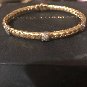 18k braided bracelet